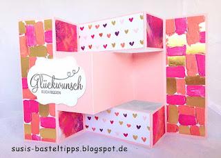 falttechnik Bastelkarte Hochzeit glückwunsch handgemacht designerpapier stampin up demonstratorin in coburg
