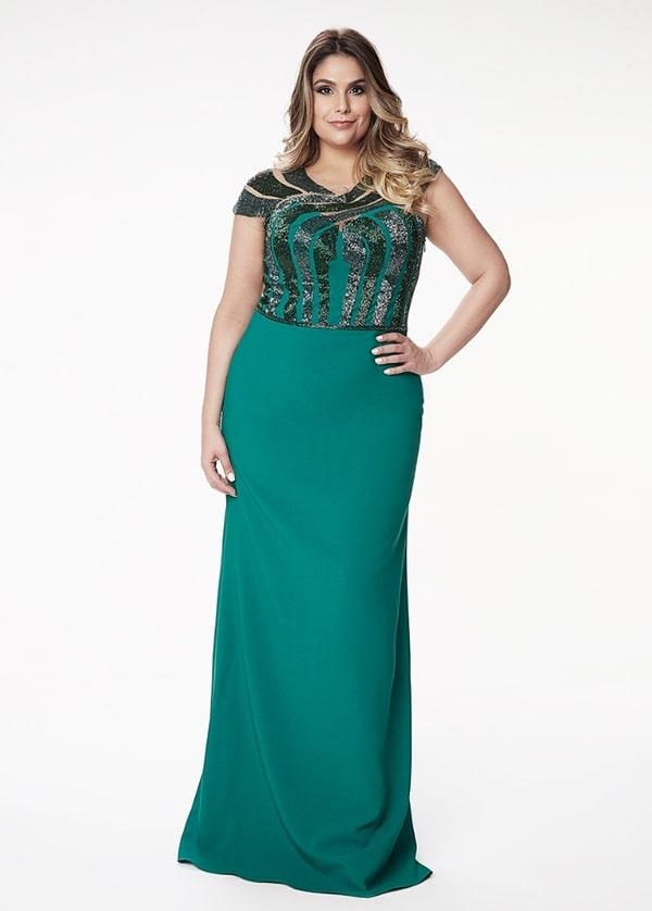 vestido longo verde para mãe dos noivos