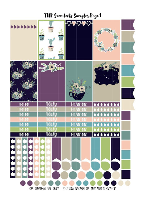 Free Printable Succulents Sampler Page 1 for the Classic Happy Planner from myplannerenvy.com
