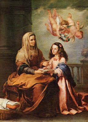 Postal: Santa Ana y la Virgen Museo del Prado Editorial Savir (Barcelona)