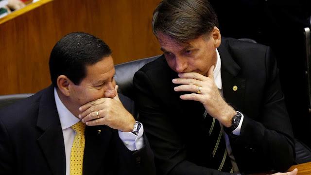 Bolsonaro vai a Davos e Mourão ocupa o cargo com declaração bombástica , politica novidades online brasil