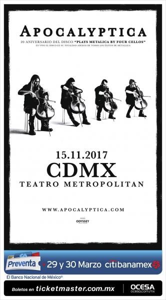 Apocalyptica en Teatro Metropólitan