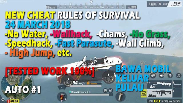 Cheat Rules of Survival Treonin 1.0 Update 24 Maret 2018