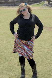 2 colorful stripe mini skir - SXSW Skirt Review: Sheila at SXSW!