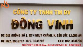 Thi công bảng hiệu công ty chữ inox tại TPHCM
