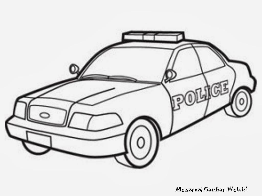 Gambar Mobil Kartun Untuk Mewarnai Pewarna H