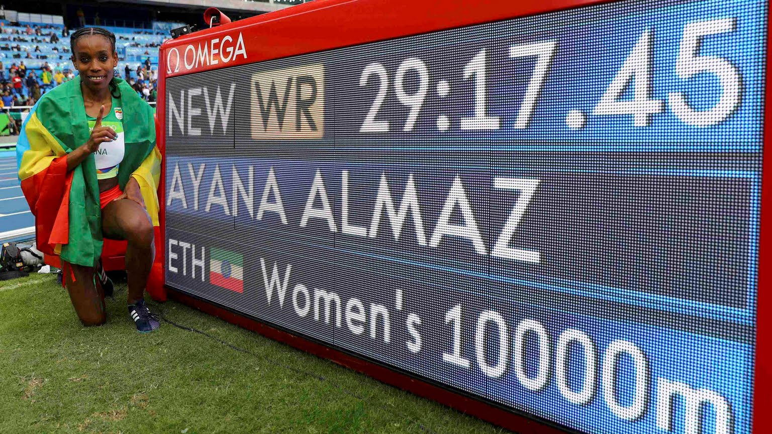 Ethiopia's Almaz Ayana, one of the African winners at the Rio Olympics