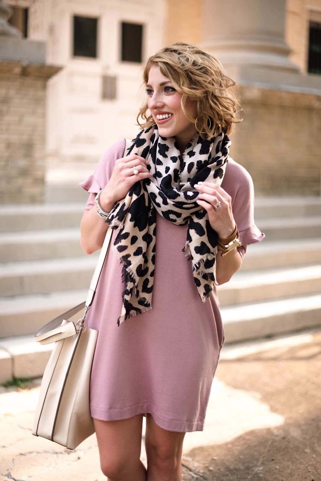 Leopard Scarf - Click through to find all the details on Something Delightful Blog!