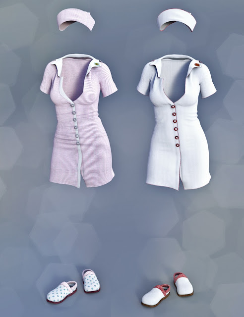 Clinical Therapy Outfit for Genesis 3 Female