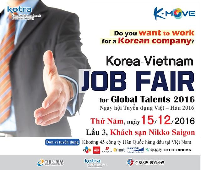 Ngày hội tuyển dụng các doanh nghiệp Hàn Quốc Job Fair 2016