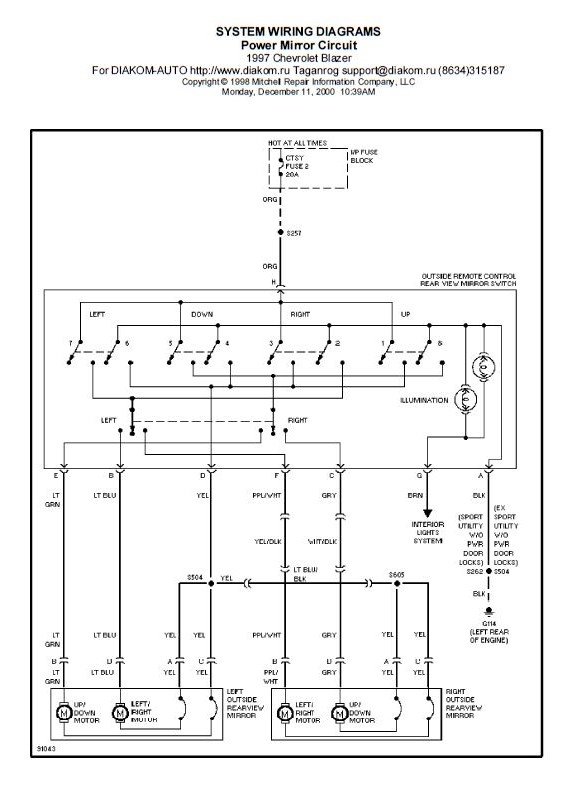 Sistem wiring spion elektrik Blazer | IndoBlazer