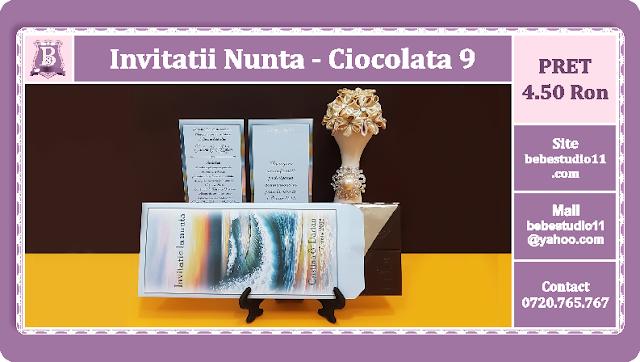 invitatii nunta ciocolata