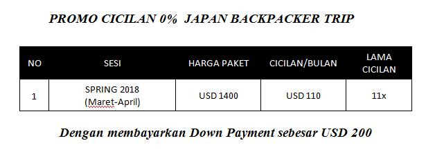 Paket Promo Cicilan 0% Liburan ke Jepang