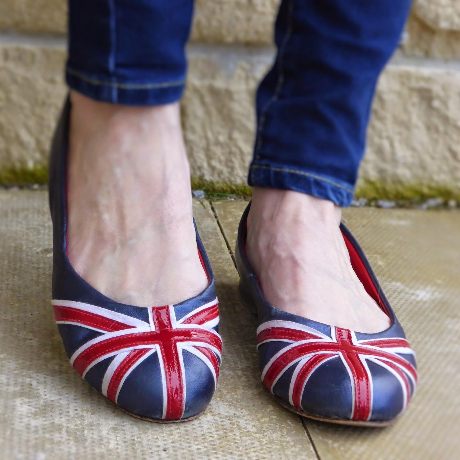 Union flag union jack ballerina shoes from The British Flat Shoe Company.