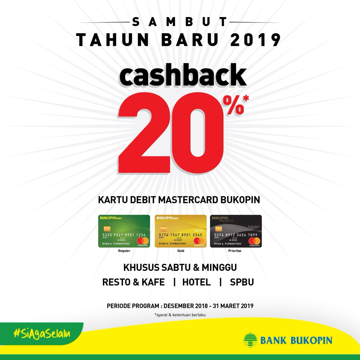 Bank Bukopin - Promo Cashback 20% Sambut Tahun Baru 2019