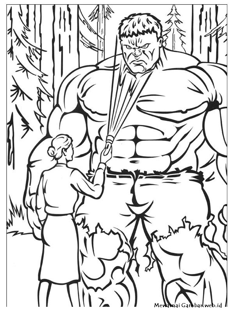 Mewarnai Gambar Hulk