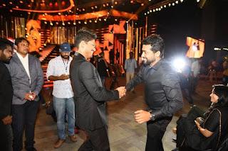 Surya and Allu Arjun At Filmfare Awards 2017