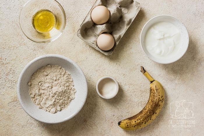 Placki jogurtowe na śniadanie - składniki