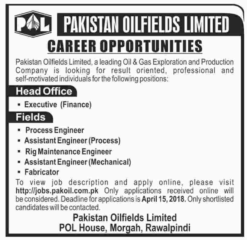 Latest Jobs in Pakistan, Oil and Gas Jobs for Engineers in Pakistan, Latest Jobs for Engineers in Pakistan, Field Jobs for Engineers, Mechanical Engineers Jobs in Pakistan, Chemical Engineers JObs in Pakistan