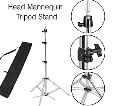 Tripod Stand & Head Mannequin