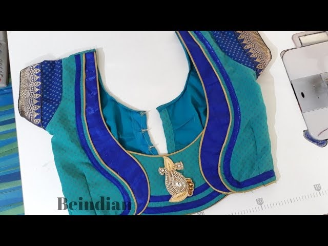Georgette sari blouse deign cutting and stitching tips