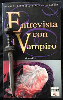 Portada del libro Entrevista con el vampiro, de Anne Rice