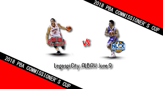 List of PBA Games: June 9 at Legaspi City, Albay 2018 PBA Commissioner's Cup