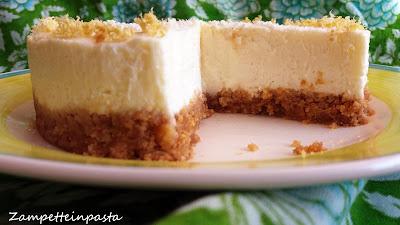 Cheesecake al limone e cioccolato bianco