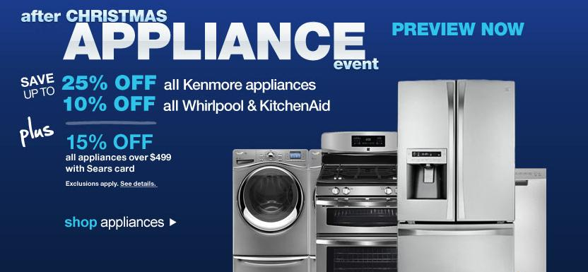 Sears after Christmas Appliance Event | Today Bliss