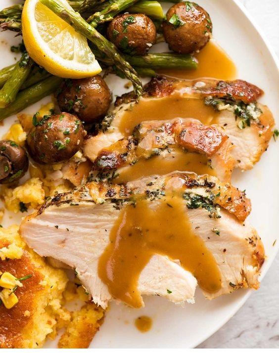 Garlic Herb Slow Cooker Turkey Breast