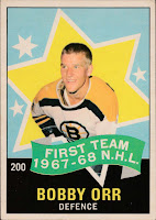 bobby orr boston bruins 1968-69 opc all-star hockey card