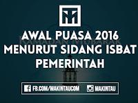 Kapan Awal Puasa Ramadhan 2016 Berdasarkan Sidang Isbat?