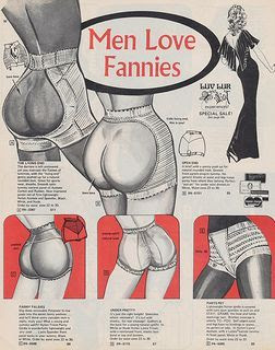 """Men love fannies"" vintage ad"