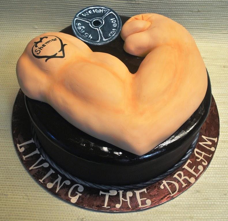 Bodybuilder Birthday Cake