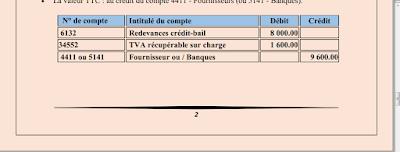 878 - Comptabilisation du crédit-bail