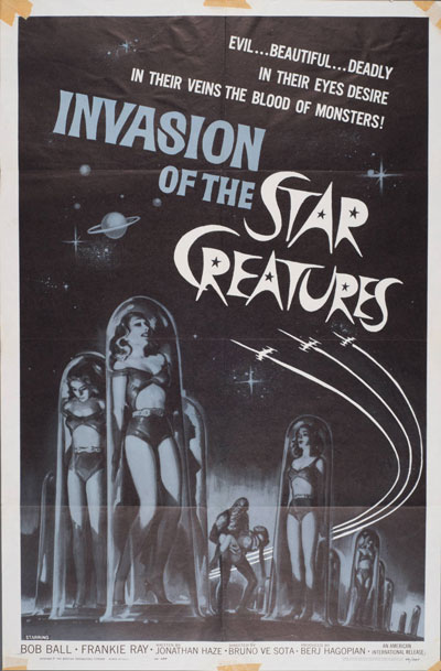 Invasion of the Star Creatures - Poster