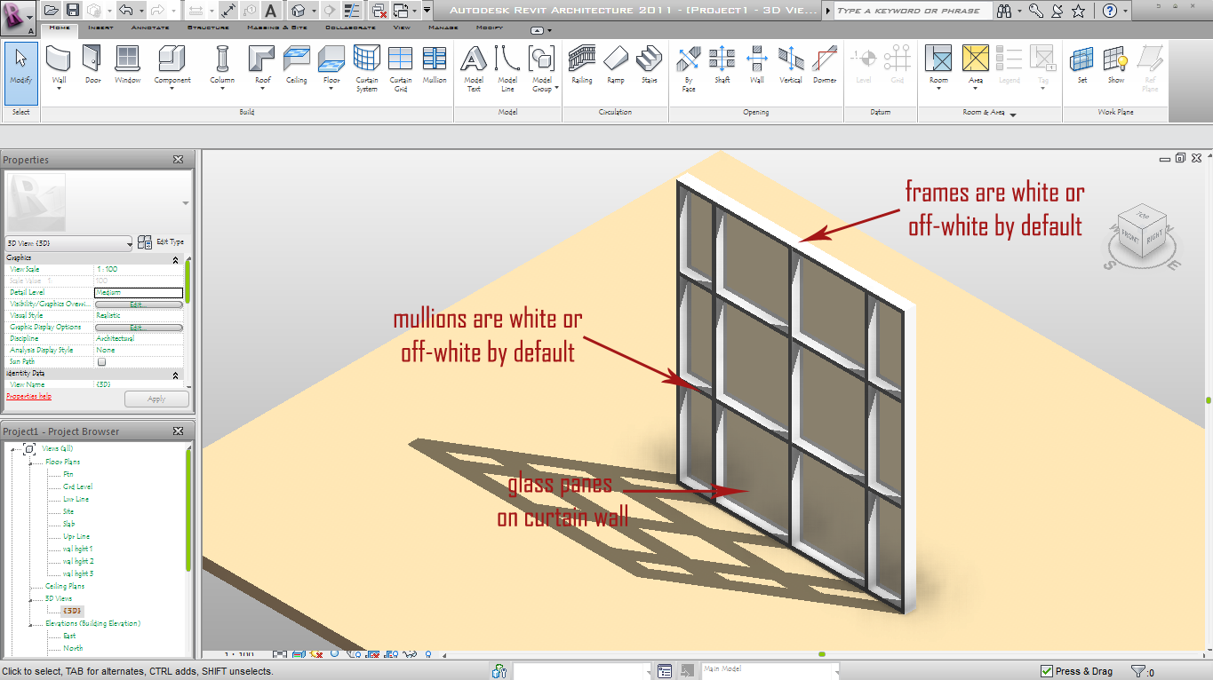 Change curtain wall mullion material revit curtain for Curtain creator software