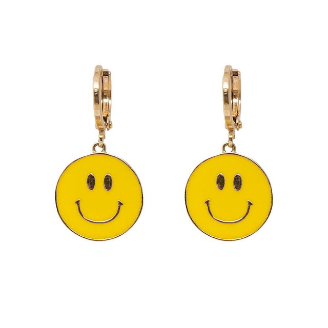 Jennifer Loiselle, jewelry designer, earrings, perspex jewelry, hand enameled jewelry, handmade jewelry, interview, First Look Fridays interview series, Don't Worry Be Happy Smiley Face Earrings