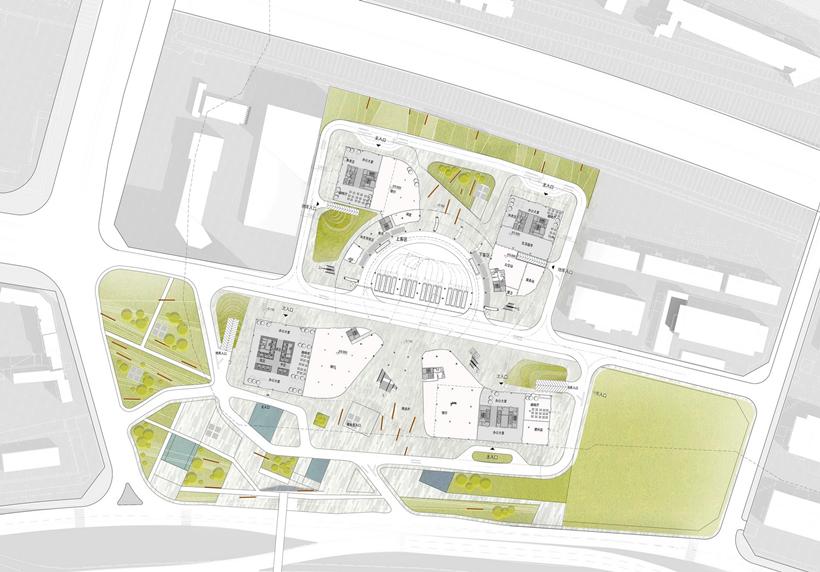 Ground level floor plan of Impressive Fangda Business Headquarters