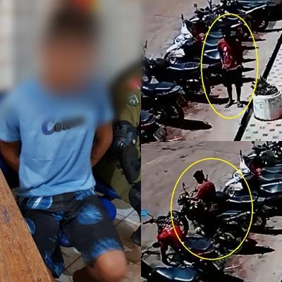 Em Itaituba: Menor Infrator é apreendido por furto de moto.