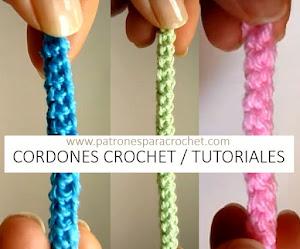 Cómo tejer cordones crochet / 3 Tutoriales