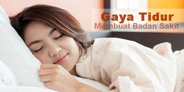 Posisi Tidur yang Membuat Badan Anda Sakit