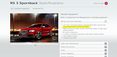 Audi RS3: Narrow Tyres Syndrome