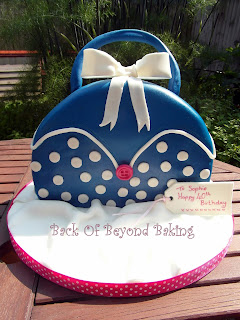 spotty handbag birthday cake