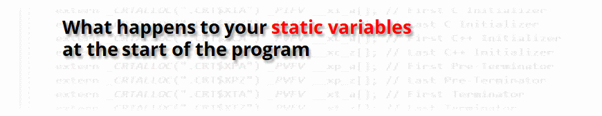 Static Variables in C++