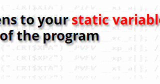 Bartek's coding blog: What happens to your static variables at the
