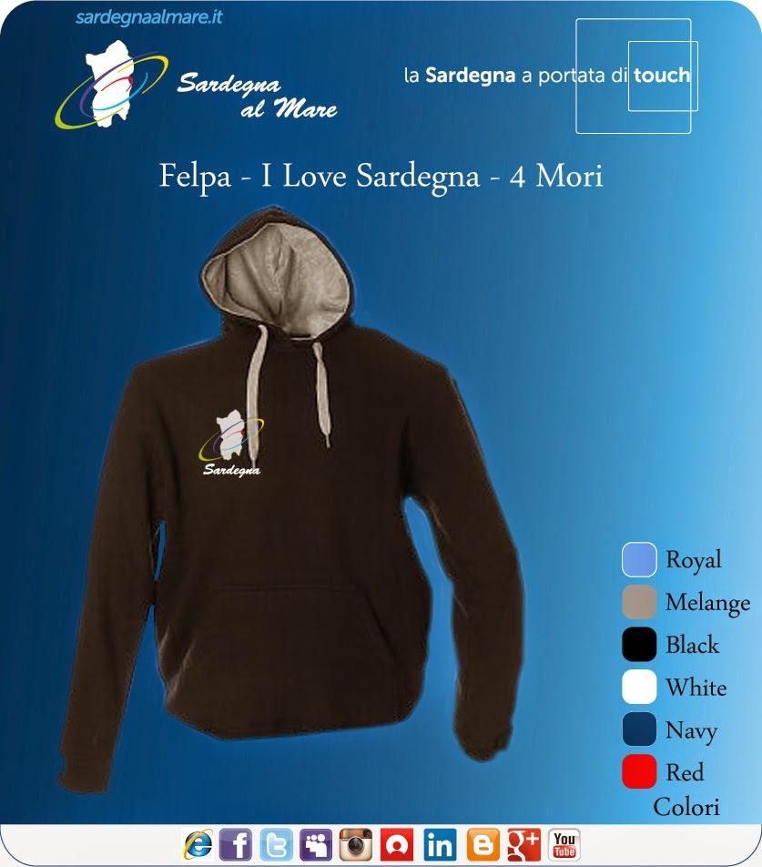 """Felpa con logo """"Sardegna al Mare"""" Classico"""