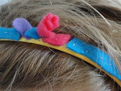 felt flower hair band for child