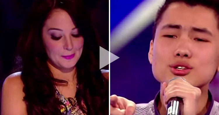This man had a huge crush on one of the judges and poured the whole studio with love