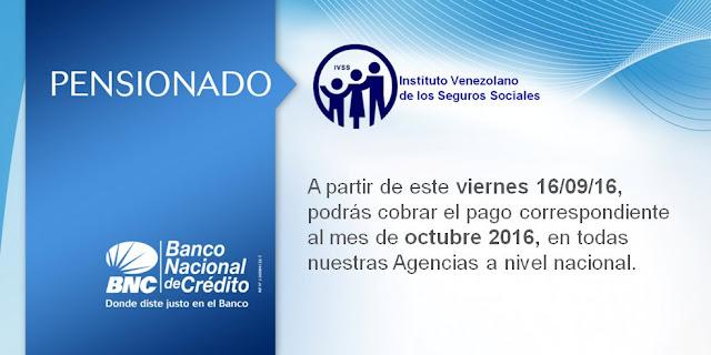Fecha de cobro Pensionados IVSS, A partir de este Viernes 16/09/16